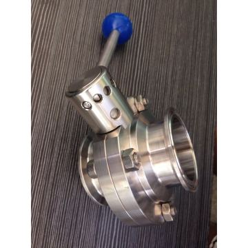 Stainless Steel Food Grade Clamped Butterfly Valve