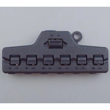 Safety push wire connector with six holes