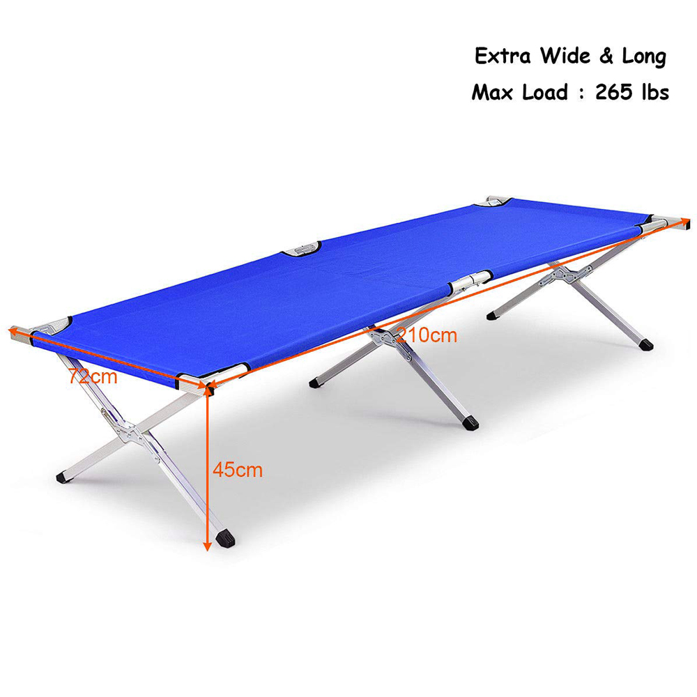 X Leg Camping Bed Size