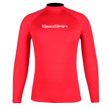 Seaskin Mens Long Sleeve Rash Guard
