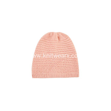 Girl's Knitted Simple Nice Beanie Cap