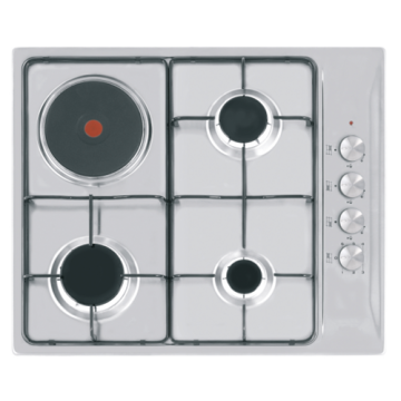 Electric and Gas Hob 60cm Stainless Steel