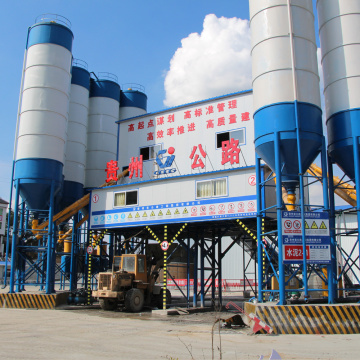 Mini cement 180m3 belt type concrete batching plant