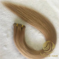 Customized #8 remy cuticle hand tied weft