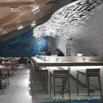 Restaurant fish shape modern chandelier pendant light