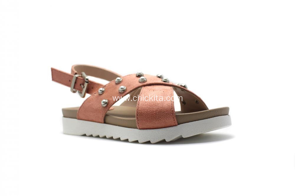 Lightweight Children's Casual Sandal With  Pearl Ornaments