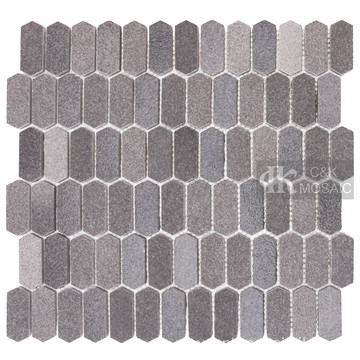 Gray Glass Mosaic Tiles For Kitchen Splashback