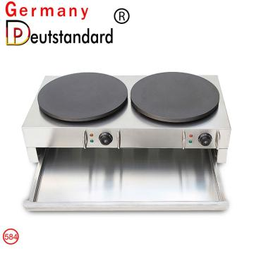 Snack crepe machine double crepe maker with CE for sale