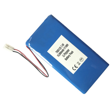 High Discharge Rate 7565125 7.4V 15000mAh Lipo Battery