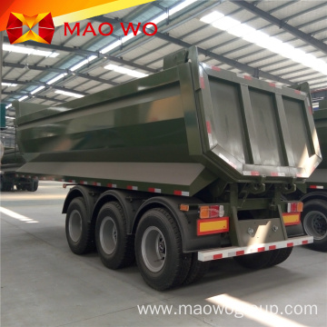 hydraulic U shape rear tipper semi trailer