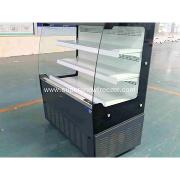small open chiller for convenience store displaying beverage