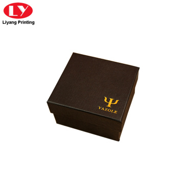 watch gift box with gold stamping logo