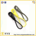 String logo puller plastic zipper puller with cord