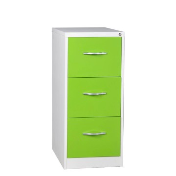 Green 3 Drawer File Cabinet