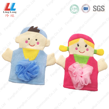 Couple style lovely bath gloves