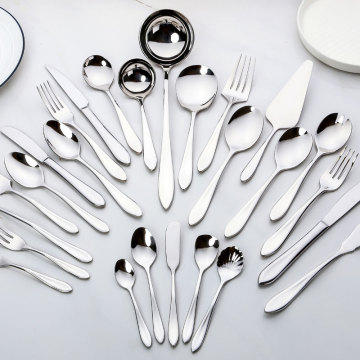 Restaurant Silver 24pcs Cutlery Set With Case