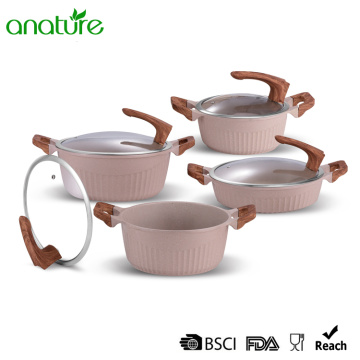 Light Pink Die Cast Non Sticking Cookware Set