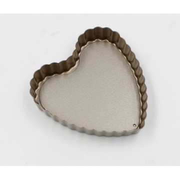 Heart-shaped Removable Pie Dish baking mold