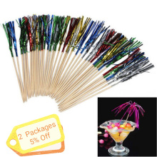 40Pcs Cocktail Fireworks Drinking Picks Sticks for Wedding Halloween Party Decoration Supplies Drink Holiday Stick Ornaments
