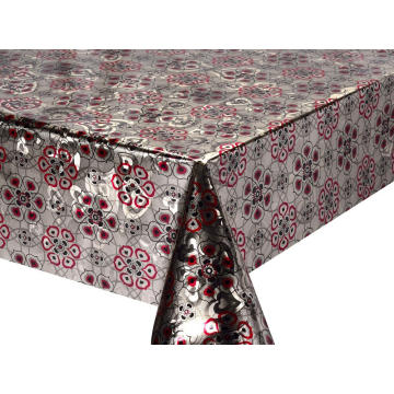 Pier Double Face Emboss printed Gold Silver Tablecloth