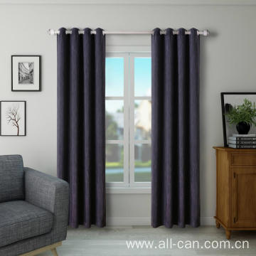 Polyester blackout curtain fabric for rooms and homes