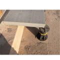 Adjustable plastic paver pedestal for decking tiles
