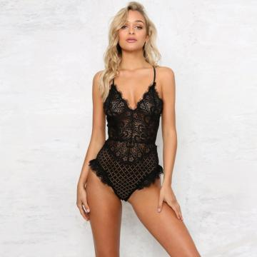 custom women bodysuit with mesh lining zipper closure