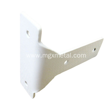 High Quality Powder Coated White Steel Curtain T Shaped Bracket