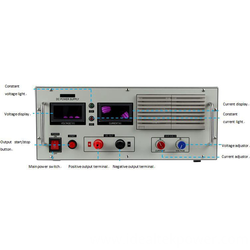 Smp 5000 Benchtop Dc Power Supply Front Panel Instruction