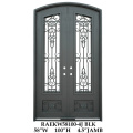 Rod iron double doors