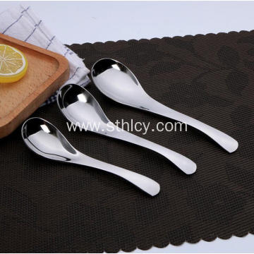 Silver 430 Stainless Steel Spoons Set for Dinner