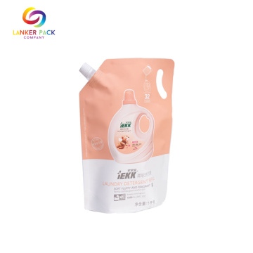 Custom Plastic Spouted Liquid Packaging With Handle