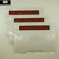 Packing List Envelope 6x4.5 inches Half Printed Red