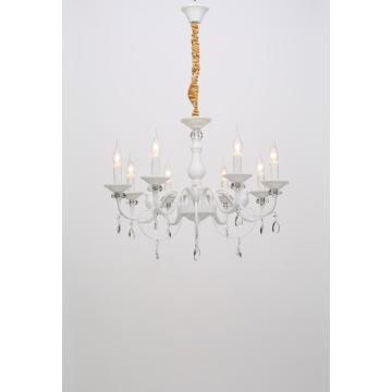 Nordic Modern Living Room Decoration White Iron Chandelier