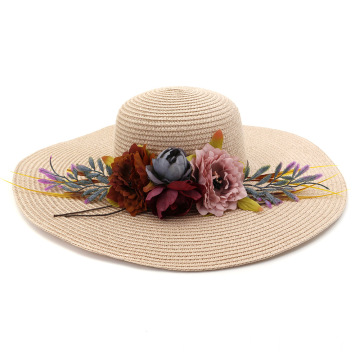 Floppy summer braid handy beach straw hat