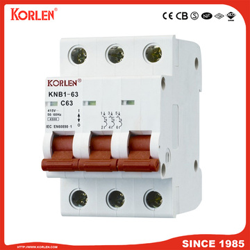 Mini circuit breaker 3p AC/DC type SEMKO SIRIM