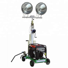 Outdoor Flood Light tower led trailer petrol generator lighting tower with 4*400 light FZM-400A