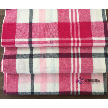 Soft Breathable 100% Cotton Flannel Plaid Fabric
