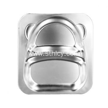 Stainless Steel Dinner Plate Students Tableware Wholesale