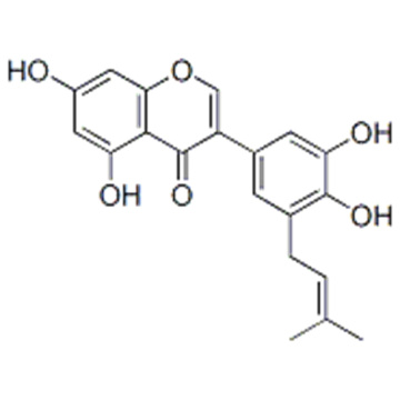 4H-1-Benzopyran-4-one,3-[3,4-dihydroxy-5-(3-methyl-2-buten-1-yl)phenyl]-5,7-dihydroxy- CAS 116709-70-7