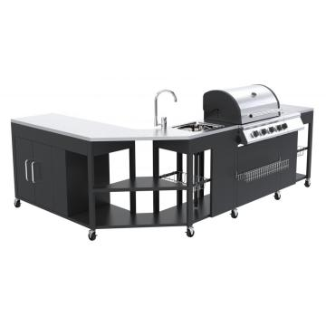 Four Burner with Side Burner Island Gas Grill