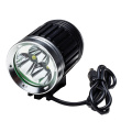 2-in-1 1650 lumen rechargeable bicycle front light
