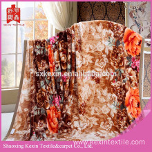 Big flower heavy quality flannel fleece blanket