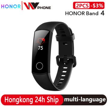 Original Honor Band 4 Smart Bracelet 50m Waterproof Color ouch screen Heart Rate Sleep Snap Smart Wristband