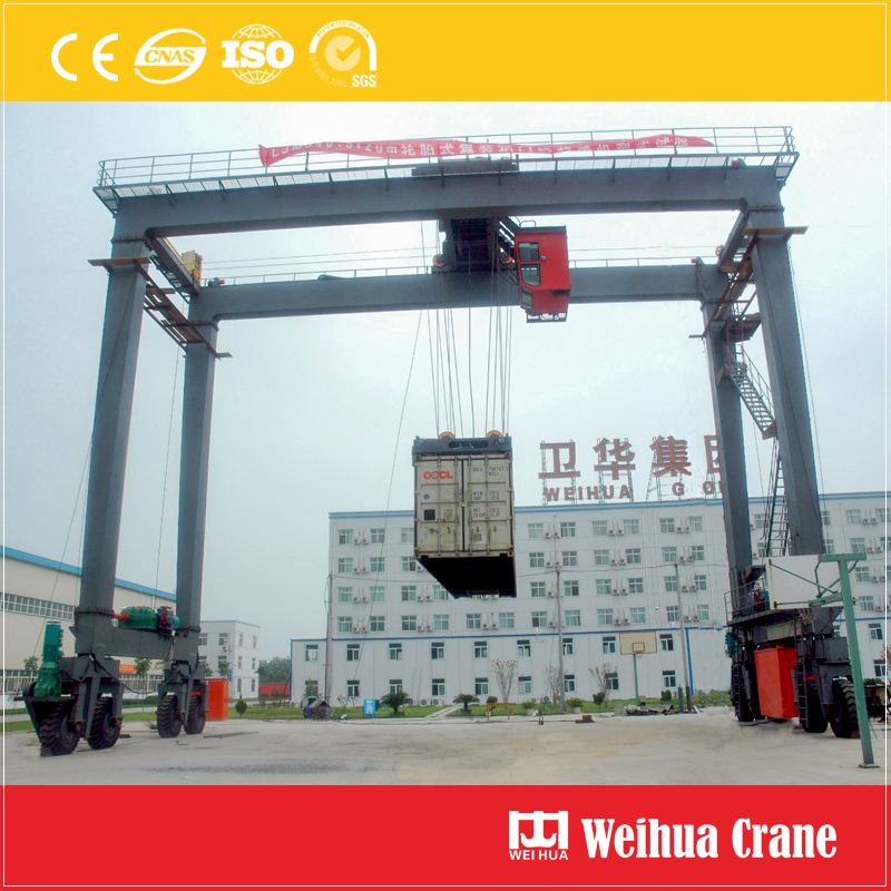 Rubber-tyre-gantry-crane-test