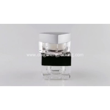 Square Frosted Silver Cream Cosmetic Jar 5g