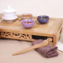 18x3cm Bamboo Wood Tea Tongs Food Toast Bacon Sugar Tea Tongs Salad Clip Tweezer Cooking Utensil Gadget Kitchen Tool