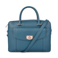 Zippered Leather Bag Large Business Bag Mens Briefcase