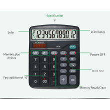12-digit calculators with AA battery and solar