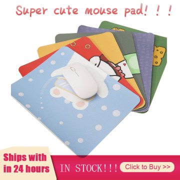 Cartoon cute personalized style PC/laptop gaming mouse pad/pad 2mm thick non-slip 22*18cm suitable for office games Blotters